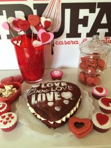 Tarta, red velvet, pastel, galletas, coolies, san valentin, amor, corazones, rojo, terciopelo,