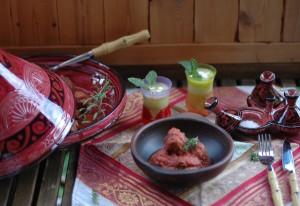 Comida con toque marroquí.