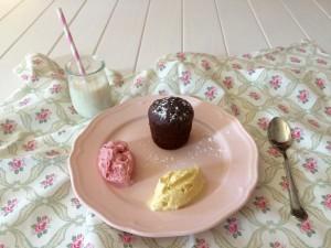 Coulant de Chocolate con helado