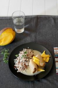 Pollo con salsa de mango.