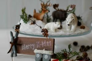 Detalle de la montaña navideña.