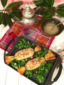 Pastelas de pollo marroquí.