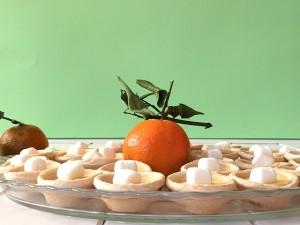 Mini tartaletas de Mandarinas y Marshmallow