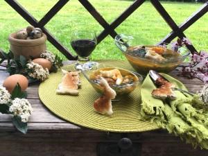 Potaje de garbanzos, bacalo y espinacas