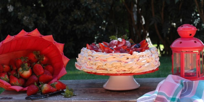 """""""Pavlova"""" de Fresas."""