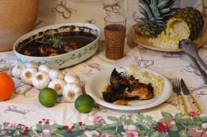 Pollo y arroz caribeños