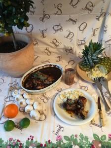 Pollo asado con arroz