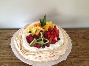 Pavlova con frutas