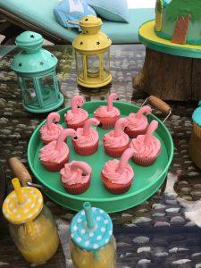 """""""Cupcakes"""" Flamencos de fresa"""