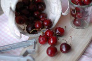 Cerezas, dulces y jugosas