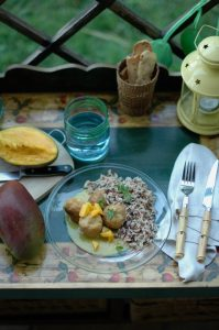 Albóndigas de pavo al curry con mango