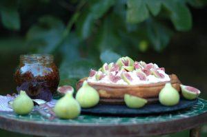 Tarta de queso mediterránea con Higos