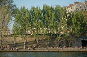 Parisinos a orillas del Sena