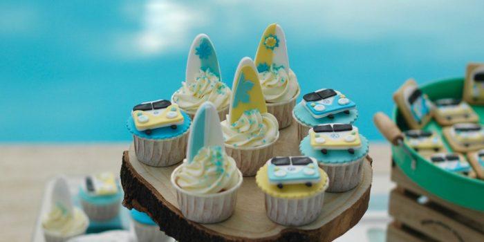 Cupcakes surferos