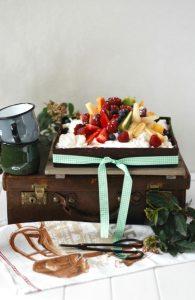Tartaleta con yogurt y frutas