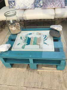 Mesa con palés
