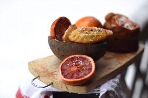 Bizcochos y magdalenas de naranja, coco y chocolate