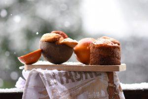 Magdalenas de naranja, coco y chocolate