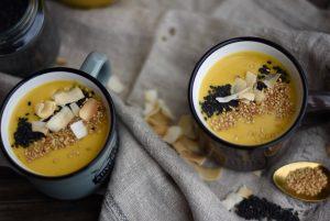 Crema de otoño con coco