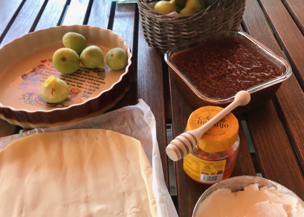 Ingredientes tarta de hojaldre con higos